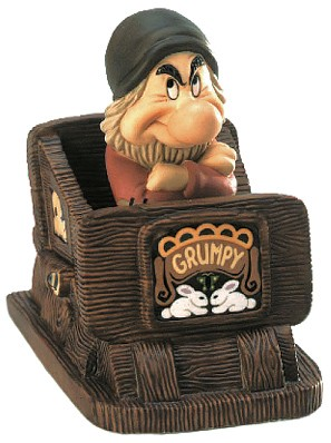 WDCC Disney Classics-Grumpy in Snow White Hmph! I Ain't Scared From Fantasyland Hand Signed