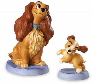 WDCC Disney Classics-Lady And The Tramp Lady And Puppy Welcome Home Artist Signed