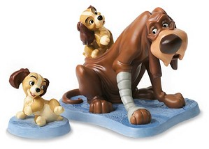 WDCC Disney Classics-Lady And The Tramp Trust And Puppy Old Dog, New Tricks & Playful Pup