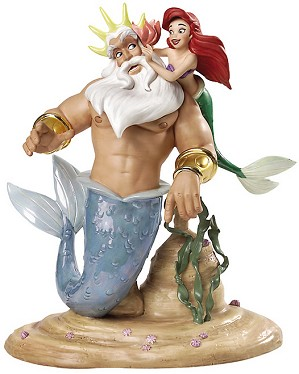 WDCC Disney Classics-King Triton & Ariel Morning, Signed Daddy From The Little Mermaid