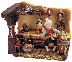 WDCC Disney Classics-Pinocchio Geppettos Workshop The Finishing Touch