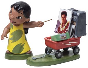 WDCC Disney Classics-Lilo And Stitch Lilo And Wagon Elvis Presley Was A Model Citizen