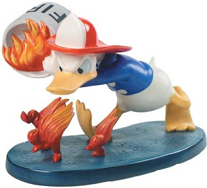 WDCC Disney Classics-Mickey's Fire Brigade Donald Duck Duck A Fire Artist Proof