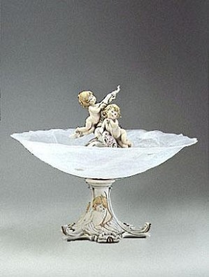 Giuseppe Armani-Cherubs With Flowers - Centerpiece