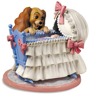 WDCC Disney Classics-Lady And The Tramp Lady And Cradle Welcome Little Darling