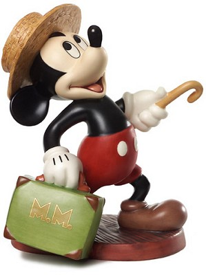 WDCC Disney Classics-Mr. Mouse Takes A Trip Mickey Mouse Travelers Tail