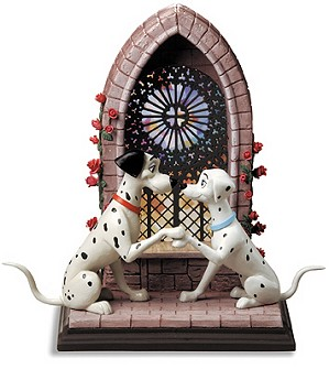 WDCC Disney Classics-101 Dalmatian Pongo and Perdita Going To The Chapel