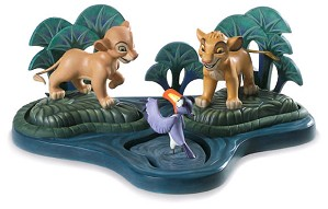 WDCC Disney Classics-The Lion King Simba Nala Zazu And Base