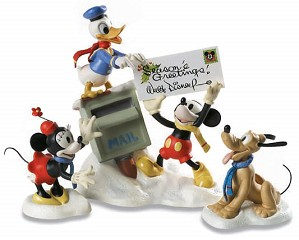 WDCC Disney Classics-Mickey, Donald, Minnie &  Pluto Merry Messengers