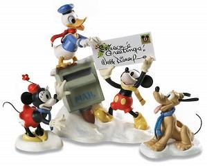 WDCC Disney Classics-Mickey, Donald, Minnie &  Pluto Merry Messengers