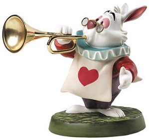 WDCC Disney Classics-Alice In Wonderland White Rabbit Royal Fanfare