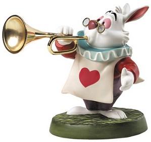 WDCC Disney Classics-Alice In Wonderland White Rabbit Royal Fanfare