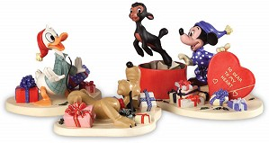 WDCC Disney Classics-Mickey,Donald,Pluto And Danny The Lamb A Heartfelt Surprise