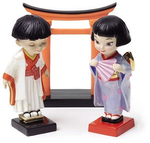 WDCC Disney Classics-It's A Small World Japan OnIIsama Honorable Brother And Oneesama Honorable Sister