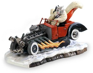 WDCC Disney Classics-One Hundred and One Dalmatians Cruella De Vil De Vil On Wheels