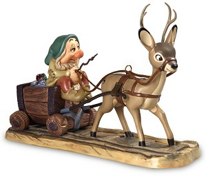 WDCC Disney Classics-Snow White Sleepy with Deer Drawn Cart In a Mine In a Mine