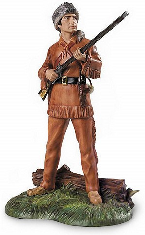 WDCC Disney Classics-Davy Crockett King Of The Wild Frontier Signed By Ken Melton