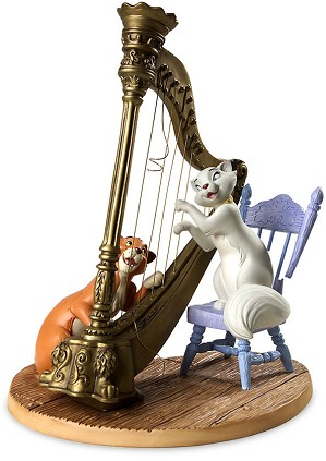 WDCC Disney Classics-The Aristocats Duchess And Omalley Plucking The Heart Strings