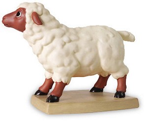 WDCC Disney Classics-Beauty And The Beast Sheep Curious Companion