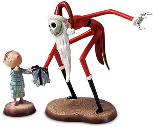 WDCC Disney Classics-The Nightmare Before Christmas Santa Jack And Timmy A Ghoulish Gift