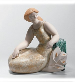 Lladro-Lady with Lillies 1 2004-08