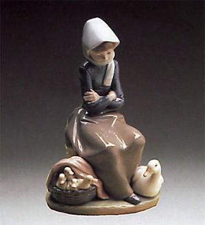 Lladro-Girl With Ducks - Duck Seller 1974-93