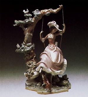 Lladro-Victorian Girl on Swing 1974-89