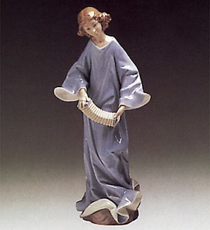 Lladro-Angel With Accordian 1976-85