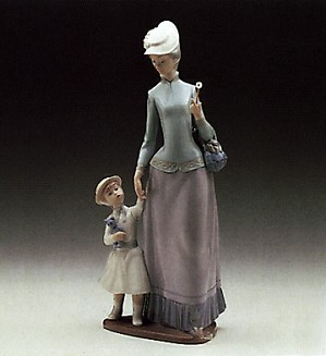Lladro-Lady And Girl 1978-85
