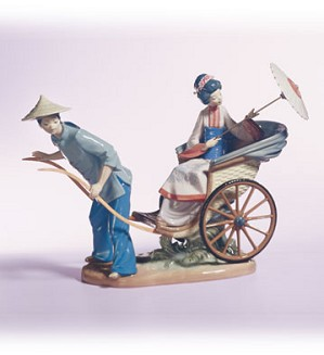 Retired Lladro-A Rickshaw Ride