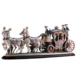 Lladro-18th Century Coach