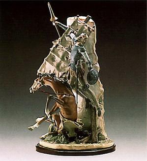 Lladro-Don Quixote And The Windm
