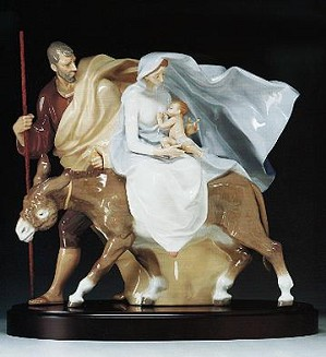 Lladro-Flight To Egypt 1989-2000