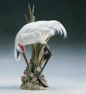 Lladro-Bowing Crane 1989-98