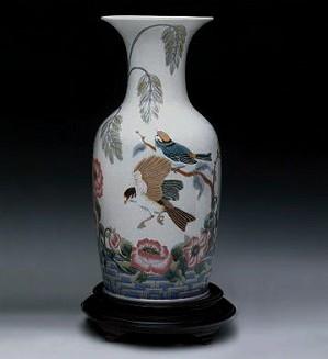 Lladro-Rose Garden Vase 1989-00 Le300