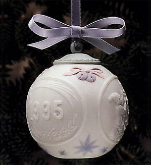 Lladro-Christmas Ball 1995 Ornament