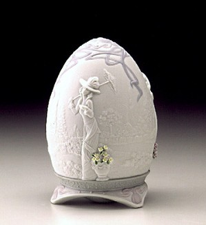 Lladro-Parisian Afternoon 2000 Egg