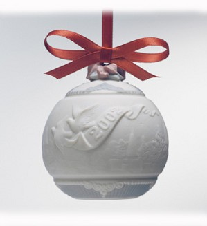 Lladro-Christmas Ball 2002  Ornament