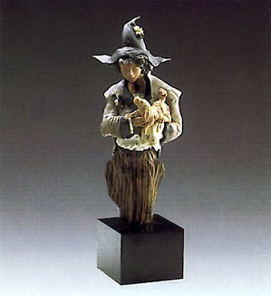 Lladro-Harlequin With Puppy