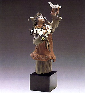 Lladro-Harlequin With Dove