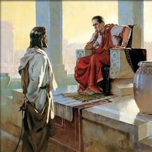 Brian Jekel-Jesus Before Pilate Unframed Canvas