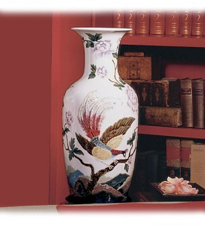 Retired Lladro-Oriental Bird Vase 1     (300)