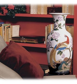 Lladro-Oriental Bird Vase 2     (300)