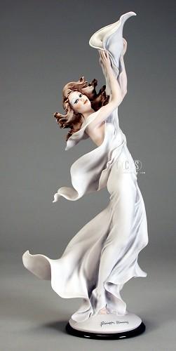 Giuseppe Armani-Girl With Calla Lily Candleholder-Left