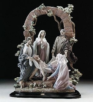 Retired Lladro-The Burial Of Christ  (1250)