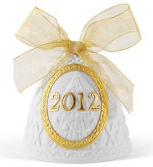 Lladro-Christmas Bell 2012 Re-Deco Ornament