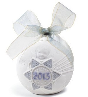 Lladro-Christmas Ball 2013 Ornament