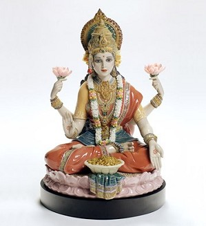 Lladro-Goddess Lokshmi 2007-08