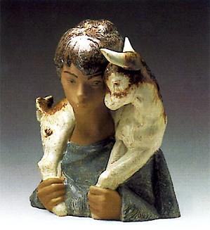 Lladro-Boy With Goat 1970-81