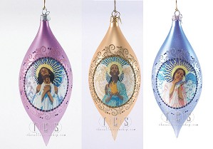 Ebony Visions-Faith Hope Love Ornament Bundle